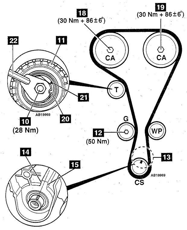 Схема ГРМ F4Rt