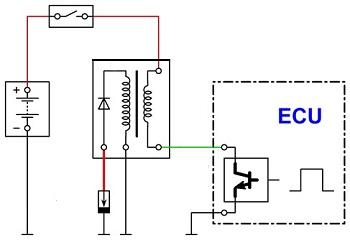 Схема системы зажигания.
